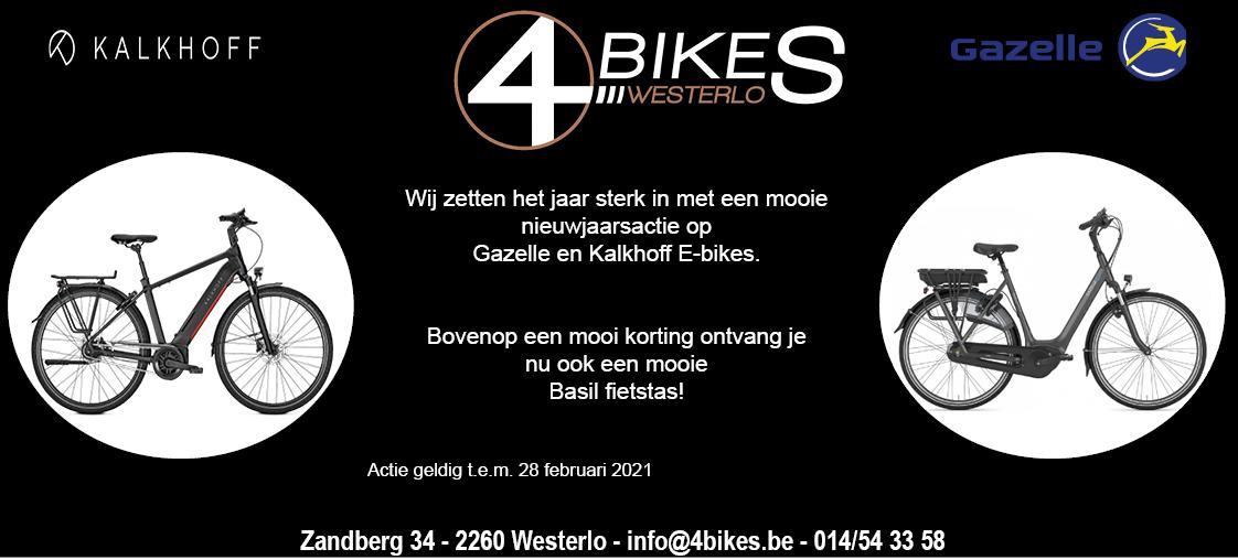 Nieuwjaaractie 2021 4bikes Westerlo
